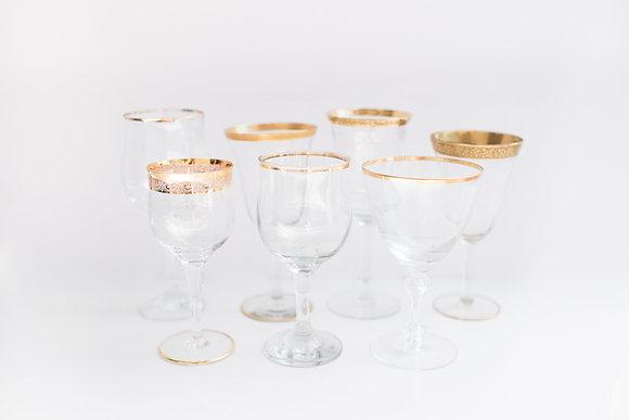 Gold Rim Goblets