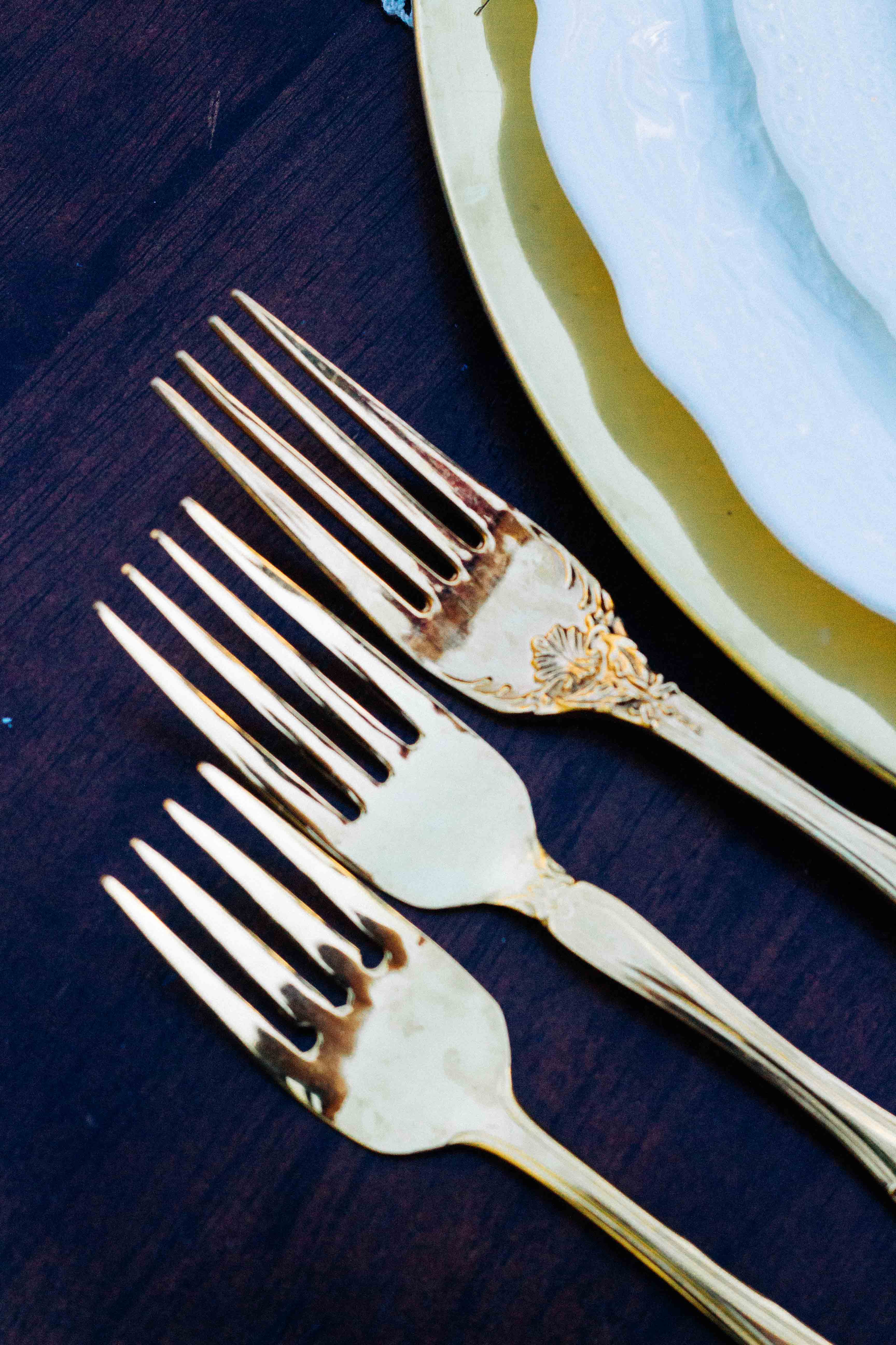 Rent Vintage Gold Flatware
