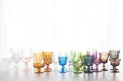 Vintage Colored Goblets for Rent