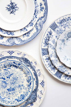 Rent blue and white vintage china