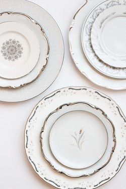 Wedding Rental Silver China