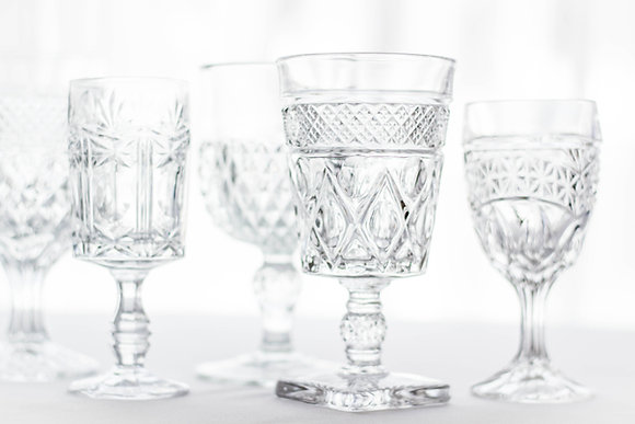 Crystal Goblet & Water Glass