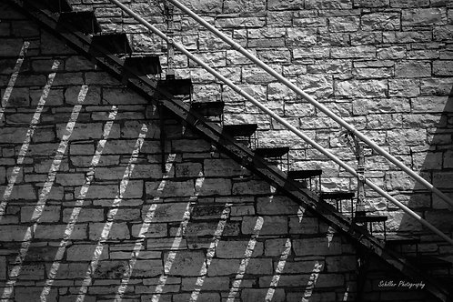 Black & White Stairs, Fine Art Print by Stephen Schiller