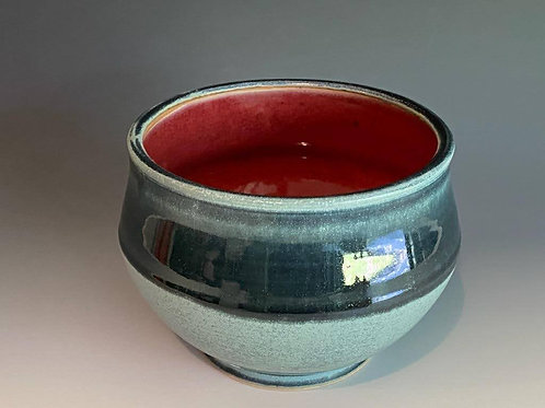 "6"" Blue / Red Bowl by Ruben Ruiz"