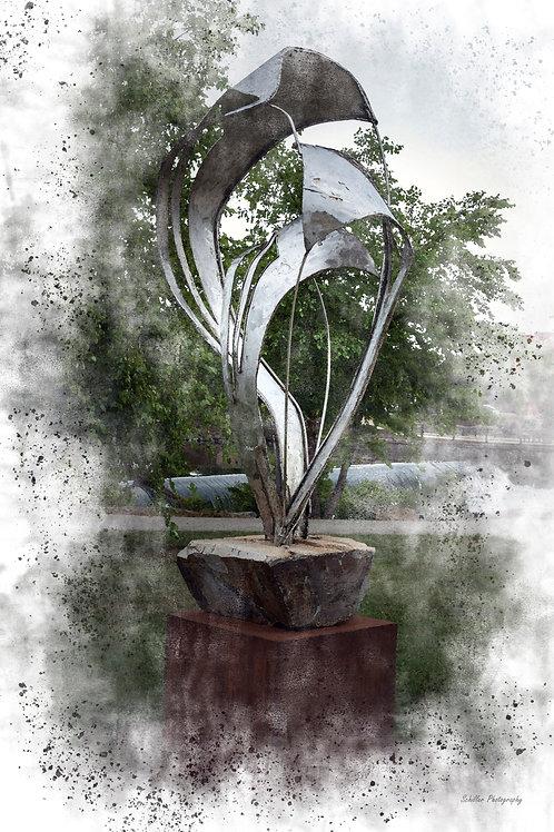 Tornado Sculpture, Framed Print by Stephen Schiller