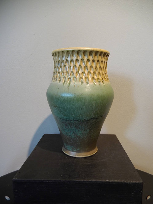 Green / Yellow Vase by Ruben Ruiz