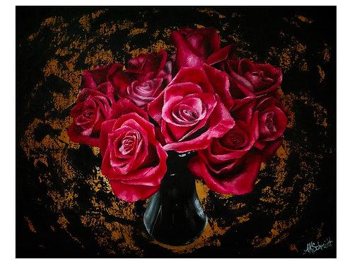 Roses For My Valentine, Fine Art Print by Ashley Koebrick Schmidt