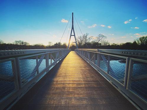 Walking Bridge at Sundown, Canvas Print by Susan Schrodt