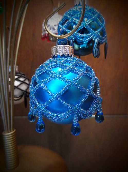 Beaded Ornament (Medium) by Anne Boerschel