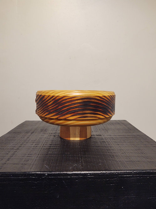 Burnt Bowl, Stitched by Kurt Wedeking