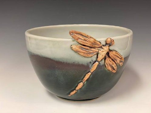 Bowl with Dragonfly by Ruben Ruiz