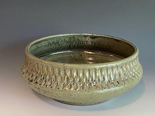 Blue Carved Bowl by Ruben Ruiz