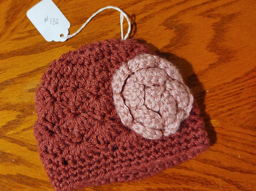 Infant (0-3 mo) Crocheted Hat by Kathi Fehr