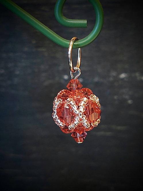 Beaded Bead Ornament by Anne Boerschel