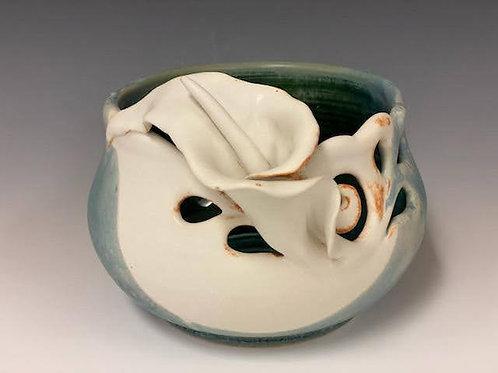 Calla lily Yarn Bowl by Ruben Ruiz