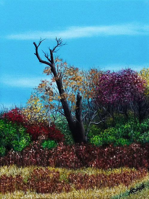 Harvest Hedgerow, Oil Painting by Ashley Koebrick Schmidt