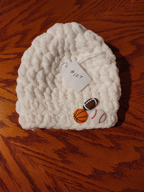 Infant (3-6 mo) Crocheted Hat by Kathi Fehr