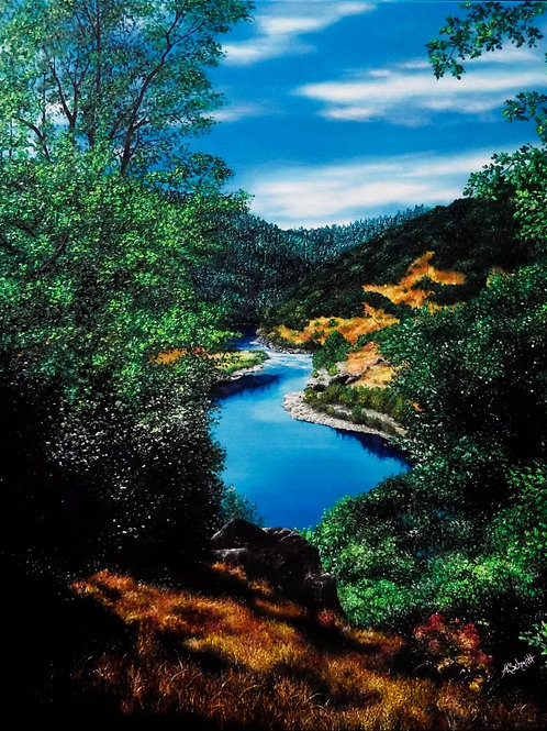 Mountainview, Oil Painting by Ashley Koebrick Schmidt