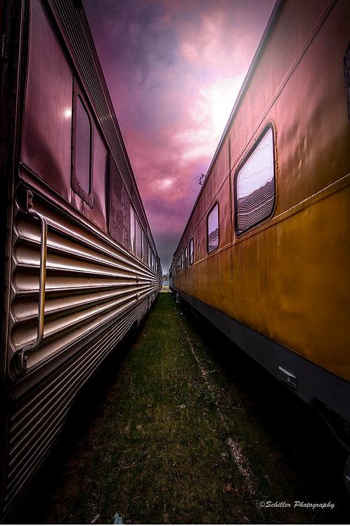 Trains, Framed Print by Stephen Schiller