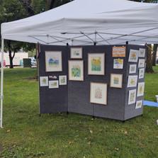 Artist Judy Sebern Beachy's booth