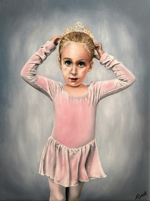 Ready for Dance Class II, Oil Painting by Ashley Koebrick Schmidt