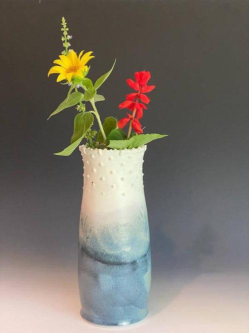 """9"""" Blue / White Vase by Ruben Ruiz"""