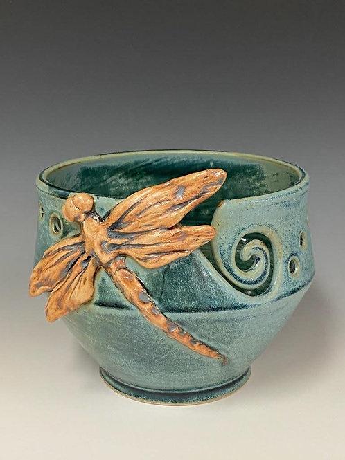 Dragonfly Yarn Bowl by Ruben Ruiz