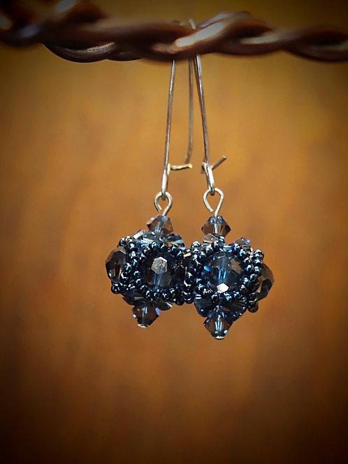 Beaded Bead Earrings by Anne Boerschel