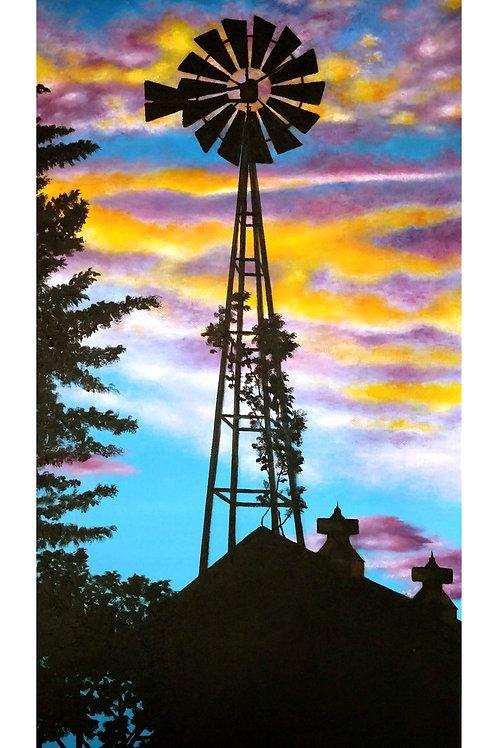 Iowa Sunset, Fine Art Print by Ashley Koebrick Schmidt