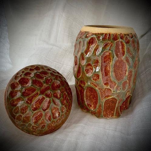 Carved Jar by Noah Orthel