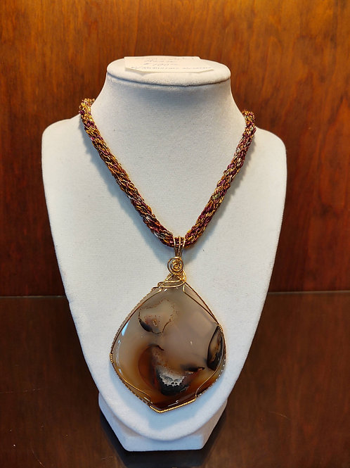 Piranha Agate Necklace by Anne Boerschel