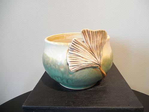 Small Bowl with Ginkgo Leaf by Ruben Ruiz