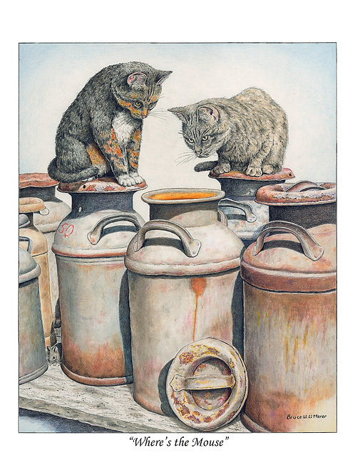 Where's the Mouse, Note card by Bruce Litterer