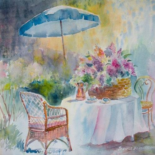 Garden Tea Time by Janiece Bergland