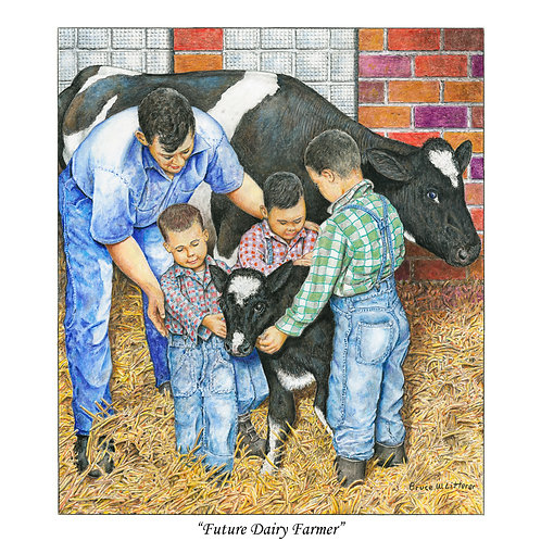 Future Dairy Farmer, Note Card by Bruce Litterer