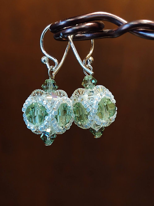 Beaded Bead Earrings by Anne Boerschel