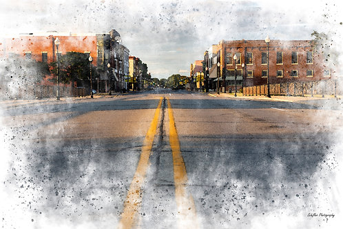 Downtown Charles City, Fine Art Print by Stephen Schiller