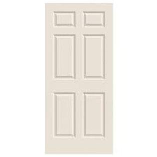 Colonial 6-panel HC interior door slab, no frame