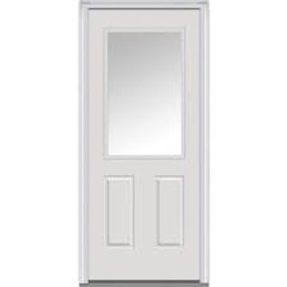 Thermatru Ts-206 1-lite (1/2 glass) steel exterior door
