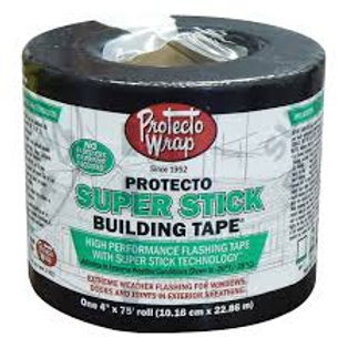 "4"" x 75' Protecto super stick flashing tape"