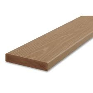 "5/4"" x 6"" Azek Brownstone PVC square edge deck board"