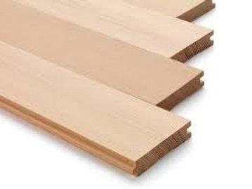 """1"""" x 4"""" C & btr fir T&G flooring"""