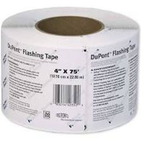"Tyvek flashing tape, 4"" x 75' roll"