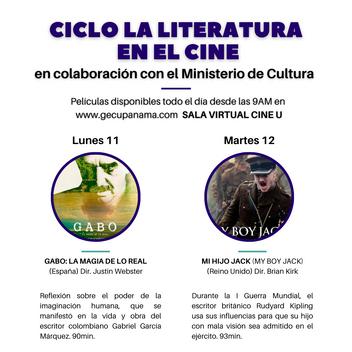 """CICLO """"LA LITERATURA EN EL CINE"""" ESTA SEMANA EN LA SALA VIRTUAL CINE U"""