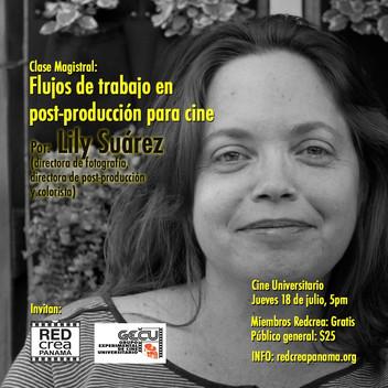 REDCREA Y GECU invitan a la charla, Flujos de trabajo en la post.producción para cine.