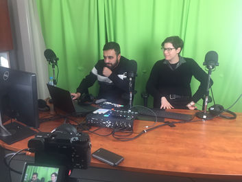 Waqar and I testing out the AMAFHH Federation podcasting and livestreaming space