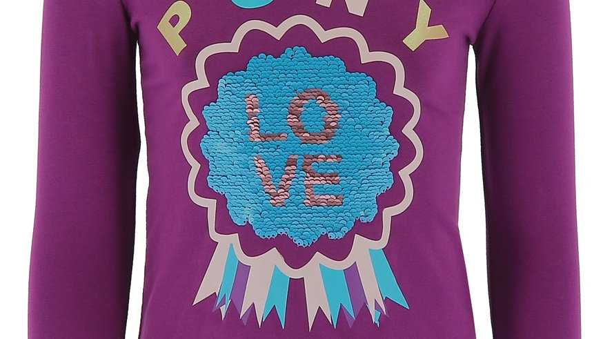 "EQUI-KIDS ""PONYLOVE"" T-SHIRT WITH SEQUINS-GIRLS"