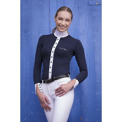 "EQUI-THÈME ""Silver"" Competition shirt, long sleeves"