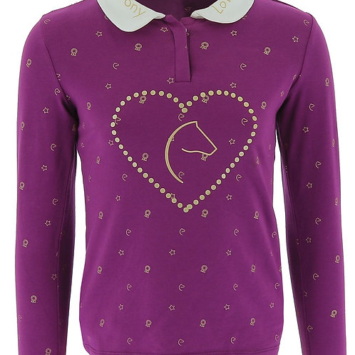 "EQUI-KIDS ""PONYLOVE""POLO SHORT WITH STRASS-GIRLS"