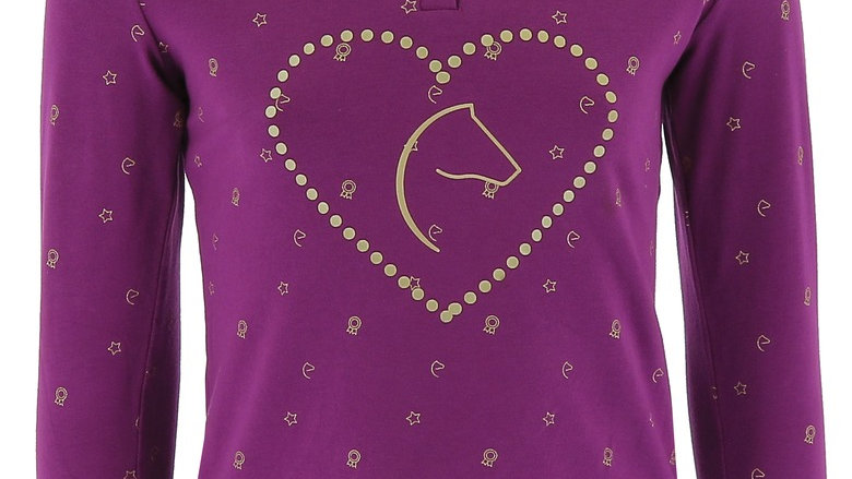 """EQUI-KIDS """"PONYLOVE""""POLO SHORT WITH STRASS-GIRLS"""